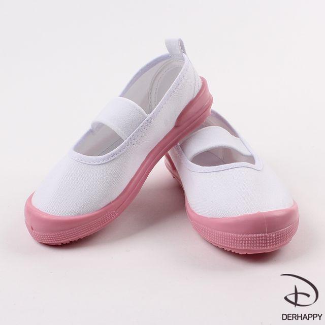 더해피 핑크코 실내화/아동/유아/학생/학교/초등/흰색