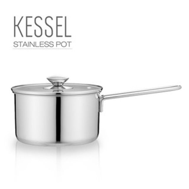 kessel 스텐레스 편수냄비 인덕션 가스렌지 겸용 18cm