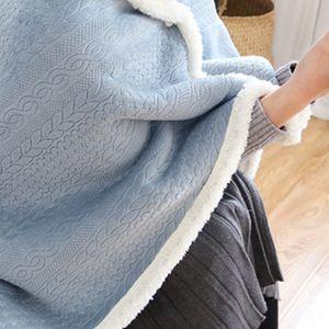 스웨터 양털 담요 집순이 겨울 캠핑 블랭킷