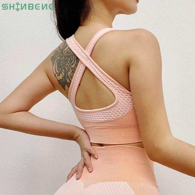 [해외] SHINBENE Shockproof Seamless 운동 체육관 스포츠 브