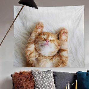 벽인테리어 벽가림막 아트월 발라당 고양이 포스터