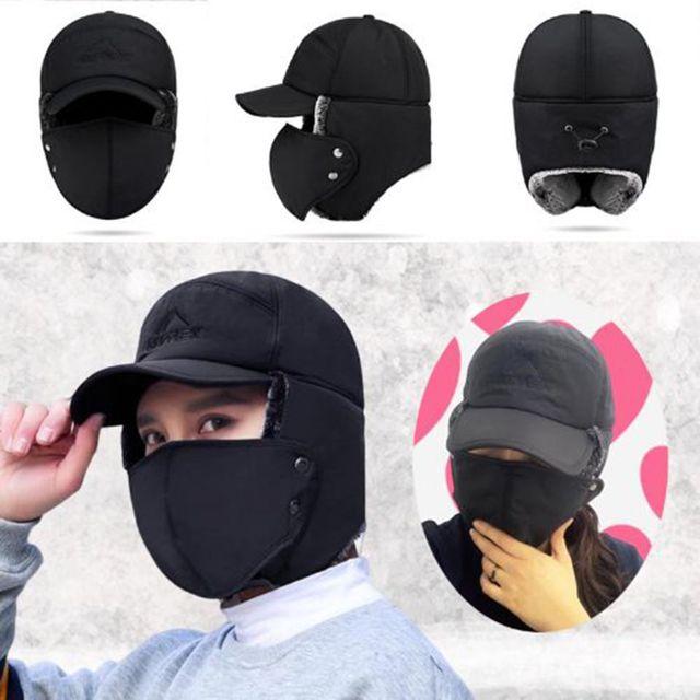 W 완전 무장 남여공용 안감 퍼 무장 방한모자 마스크