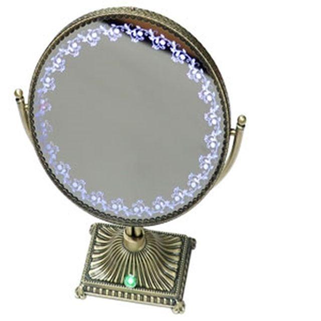 삼원 LED 스탠드 거울 확대경 (대) 엔틱 탁상 화장대 [제작 대량 도매 로고 인쇄 레이저 마킹 각인 나염 실크 uv 포장 공장 문의는 네이뽕]