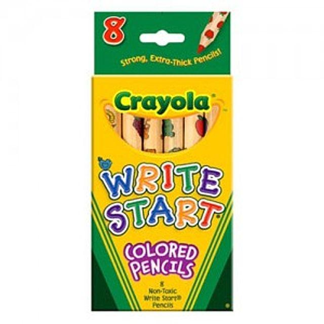 [더산쇼핑]크레욜라 일반색연필 유아용8색 색연필 유아크레용