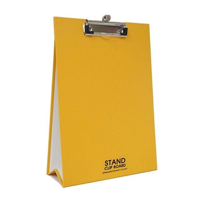 아미호 클립보드 MA-007 노란색 A4 스탠드클립보드 스프링펜홀더 [제작 대량 도매 로고 인쇄 레이저 마킹 각인 나염 실크 uv 포장 공장 문의는 네이뽕]