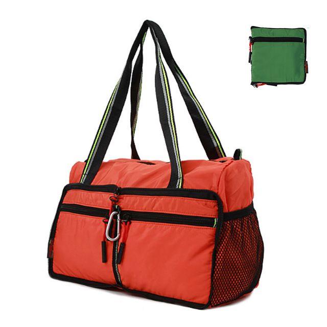 여행 보조 토트백 가방 가벼운 휴대 보스턴백 오렌지