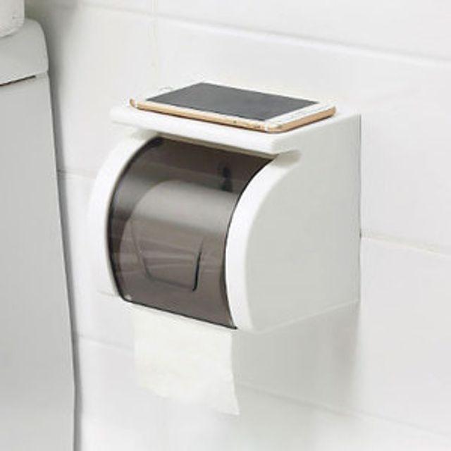 욕실선반 젖음 방지 커버 벽부착형 두루말이 휴지걸이