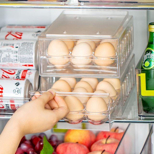 W 키밍 12구 서랍형 계란 케이스 트레이 접층 보관함