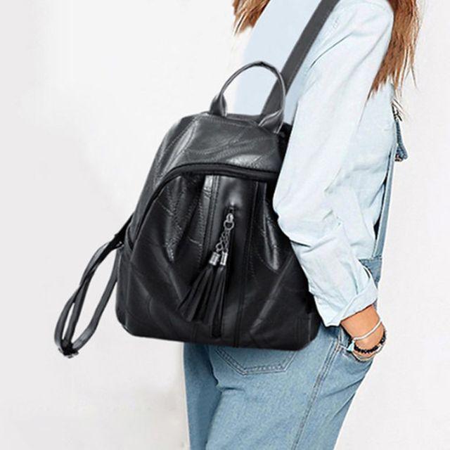 W 태슬 포인트 직장인 여성 외출 데일리 가방 백팩