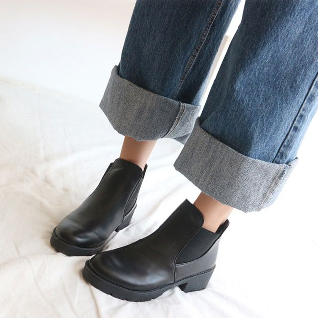 여성 발목 낮은굽 첼시부츠 앵글부츠 캐주얼 정장구두