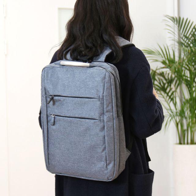 W 심플 디자인 남녀공용 캐주얼 패션 분리수납 백팩