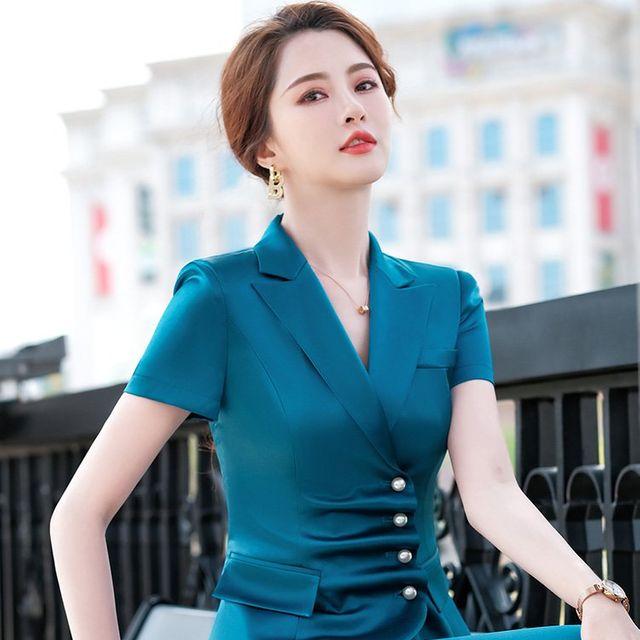 [해외] 여성 패션 재킷 자켓 정장세트자 전문 착용 바지