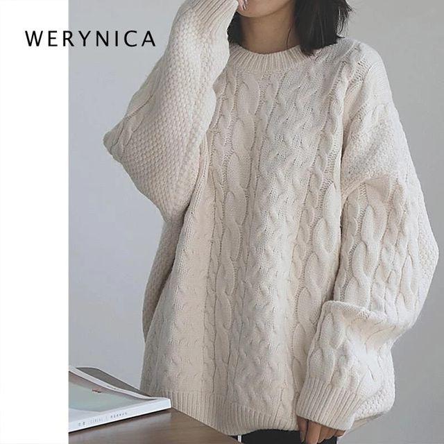 [해외] Werynica 2020 가을/겨울 신사 숙녀 스웨터 퓨어 컬러