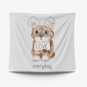 귀여운 고양이 가림막 포스터 벽공간인테리어 3size