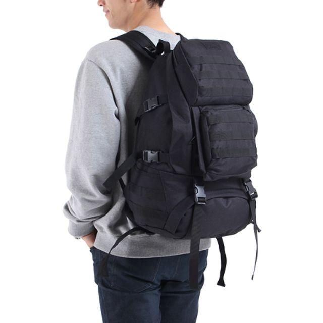 남자 밀리터리 대용량 전술 등산 여행 가방 검정 백팩