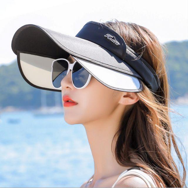 W 우먼스 슬라이드 챙넓은 여름 썬캡 여성 모자