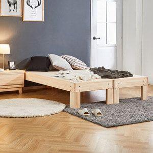 편백나무(히노끼) 평상형 퀸(Q)침대 dsif-190
