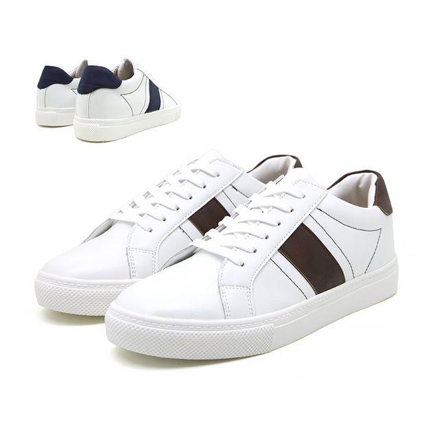 W 유니크 라인 남성 패션 스니커즈 학생 인기 신발