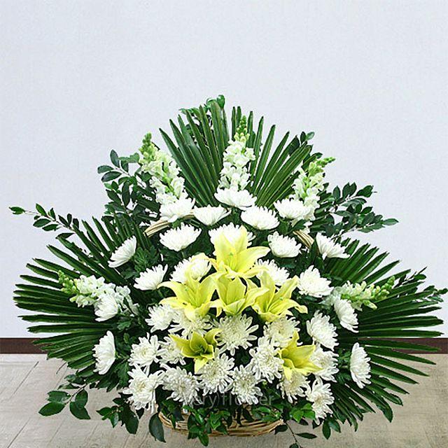 근조바구니 일반-중급 꽃배달서비스