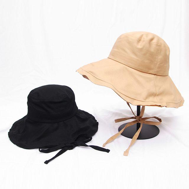 무지 스트랩 데일리 버킷햇 빈티지 구제 벙거지 모자