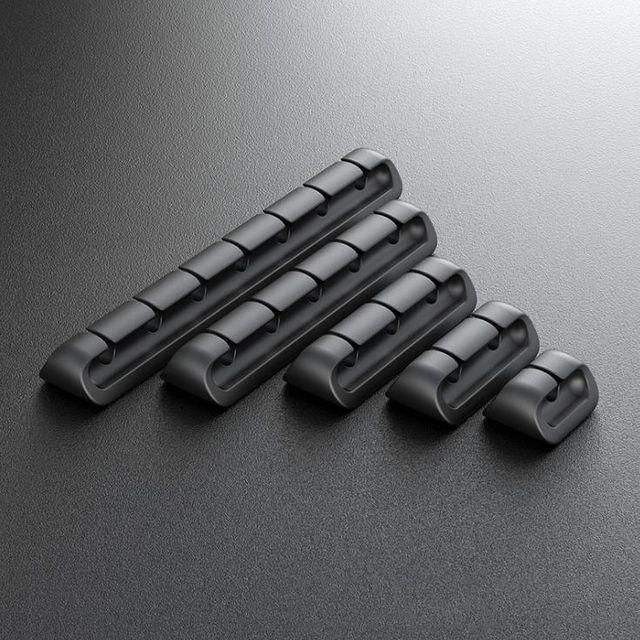 W 키밍 책상 케이블 고정 홀더 USB 컴퓨터 선 정리