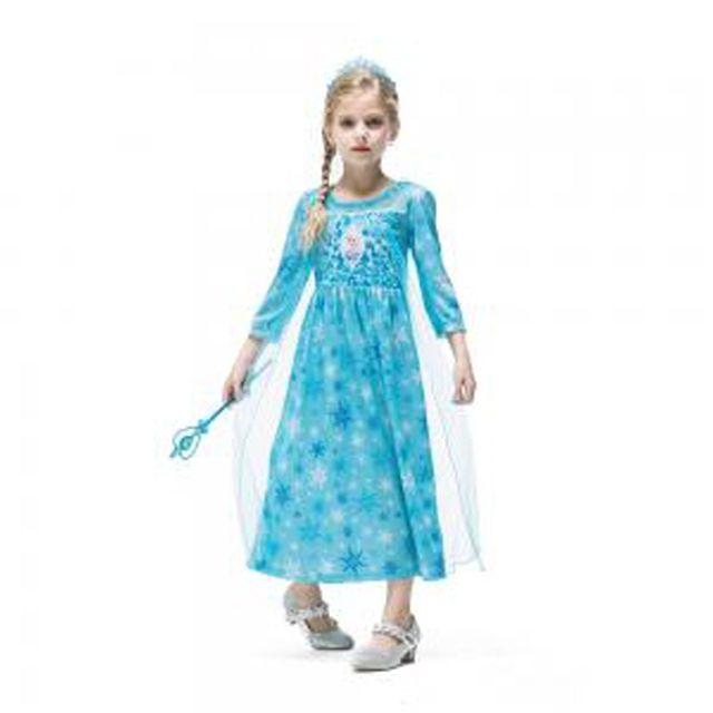 할로윈 의상 아동 여아 공주 엘사 눈꽃 긴팔 드레스