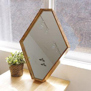 빈티지 골드 육각 거울