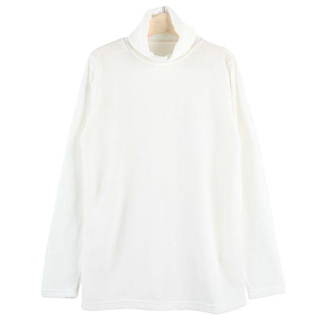 여성 목폴라 티셔츠 겨울 긴팔 목티 니트티 아이보리