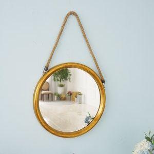 빈티지 골드 마끈 원형 거울