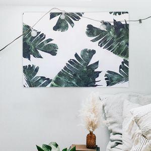 대형 패브릭 포스터 잎사귀 M