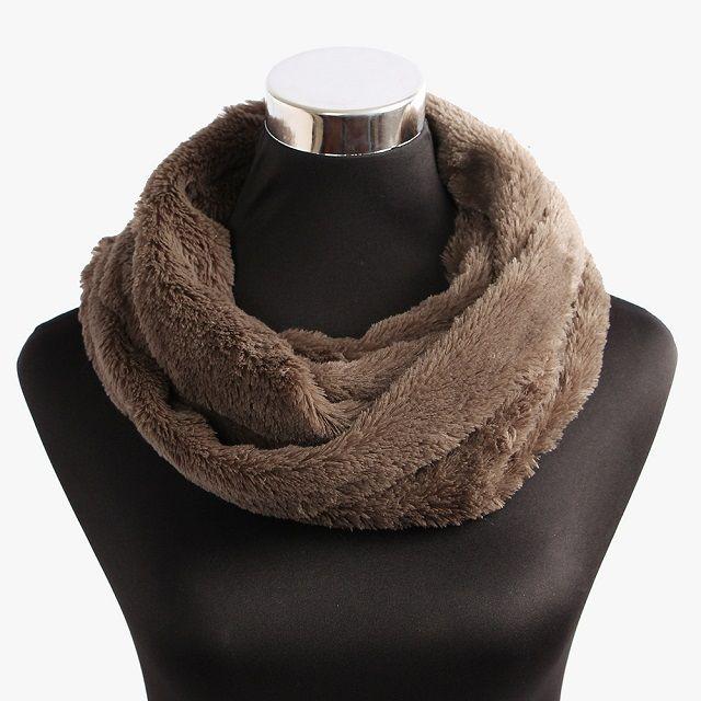 [현재분류명],따뜻한 겨울나기 인조퍼 브라운 넥워머,넥워머,니트목도리,목도리