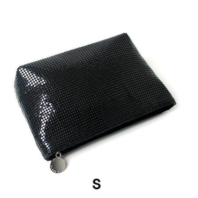 럭셔리 스타일 화장품 파우치(S)-블랙 [제작 대량 도매 로고 인쇄 레이저 마킹 각인 나염 실크 uv 포장 공장 문의는 네이뽕]