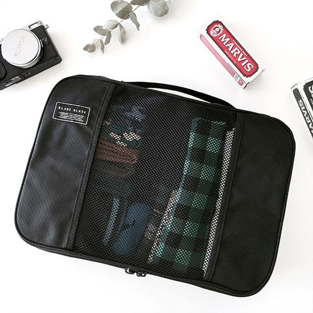 캐리어 수납파우치-블랙 [제작 대량 도매 로고 인쇄 레이저 마킹 각인 나염 실크 uv 포장 공장 문의는 네이뽕]