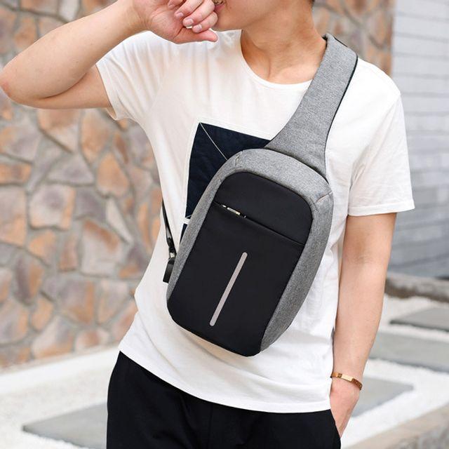 [FADCA1] 메신저백 나들이 휴대용 슬링백 가방 캔버스 크로스 캐주얼