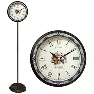 GB6037 무소음 에폭시 장미 로마숫자 메탈 스탠드시계