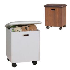 화장대 수납 스툴 간이 보조 사각 디자인 쿠션 의자
