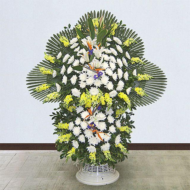 근조스탠드2단 일반-중급 꽃배달서비스