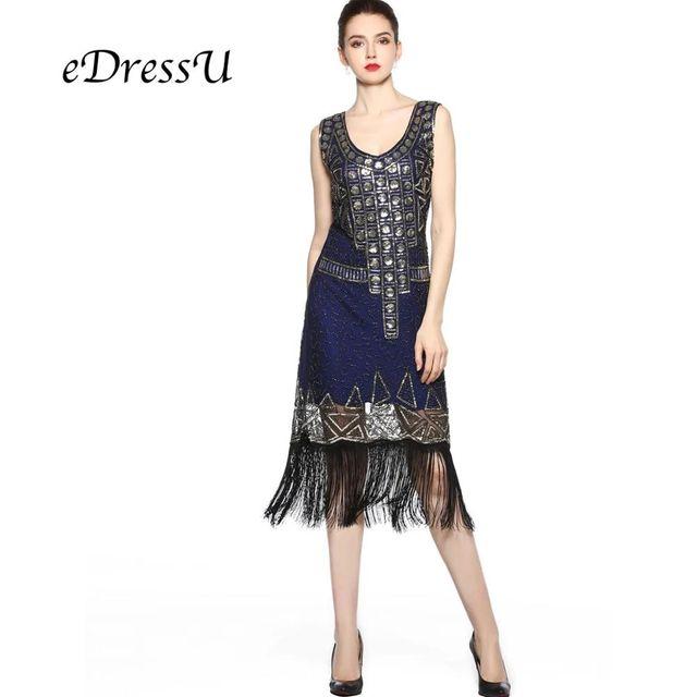 [해외] Edressu 다크 블루 1920 년대 빈티지 개츠비 드레스 2