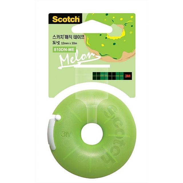 3M)매직테이프 도넛(멜론_12mm×10m)-박스(120개입)