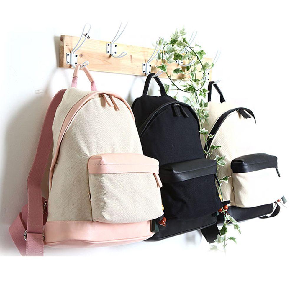 캠퍼스 커플가방 예쁜 목각참 키링 캐주얼 백팩 가방