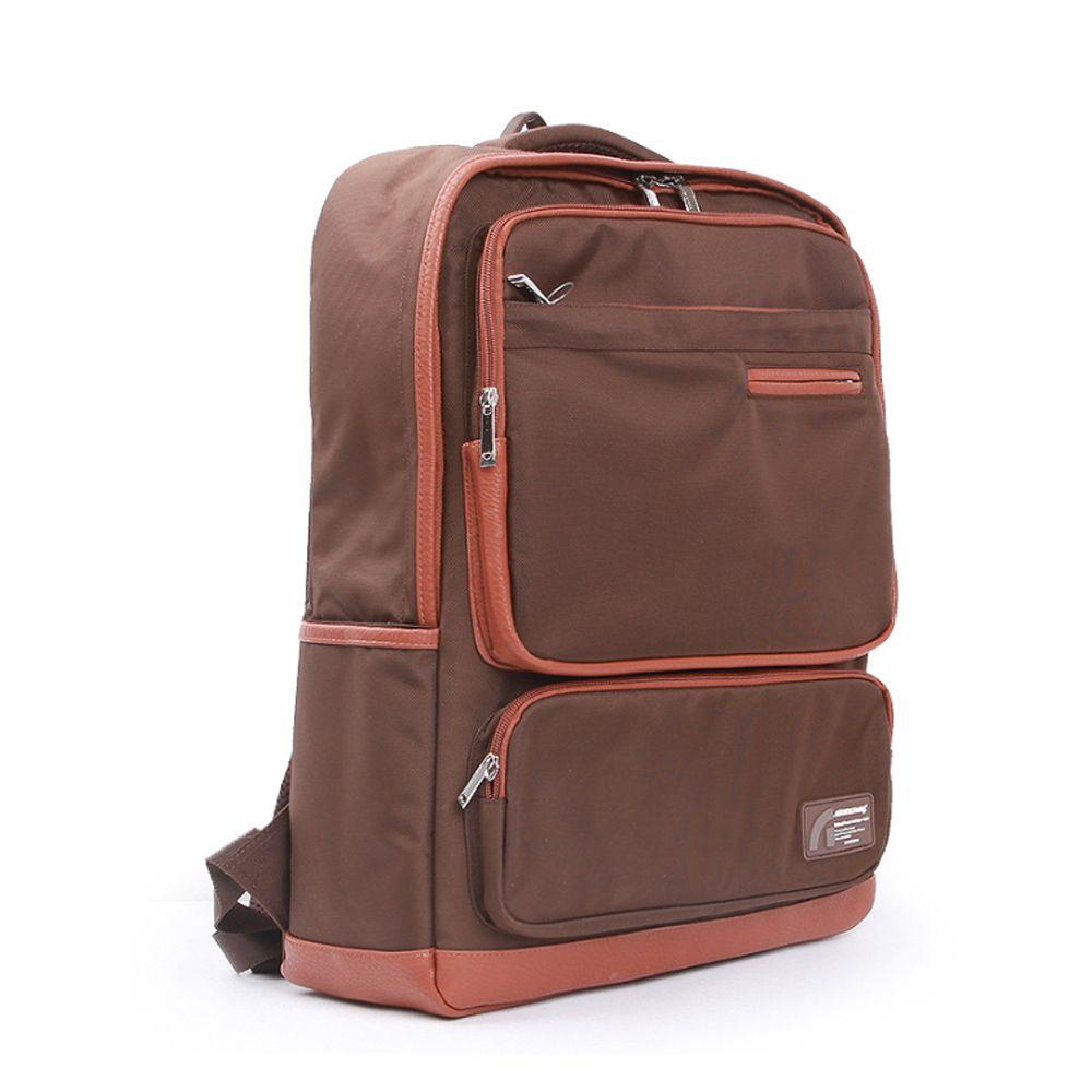 10대 데일리 노트북 백팩 학생 스퀘어 브라운 가방