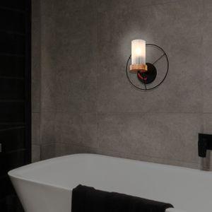 캠핑(원형) LED벽등 무드등 (블랙/화이트) 전구포함가