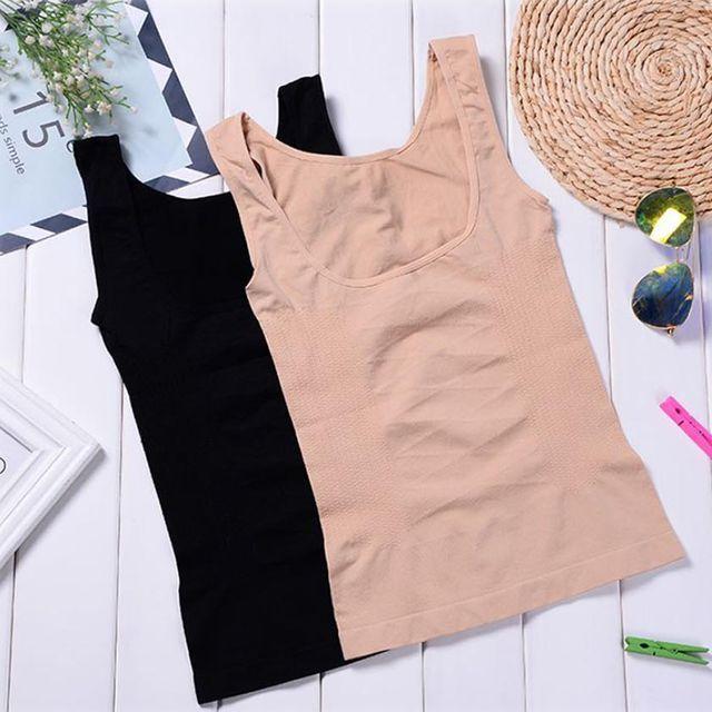 여성 뱃살 허리 볼륨 바스트업 기능성 속옷 나시티