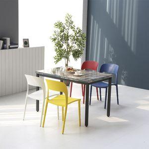 멜로우 1000 스틸 카페 테이블