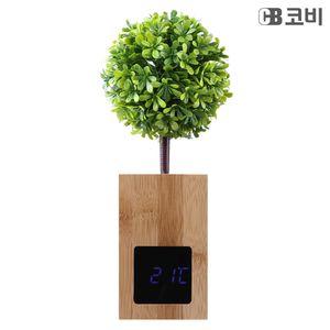 대나무 무소음 LED 알람시계 BL60