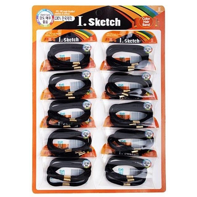 검정머리끈세트 601.10p.1판/10P [제작 대량 도매 로고 인쇄 레이저 마킹 각인 나염 실크 uv 포장 공장 문의는 네이뽕]