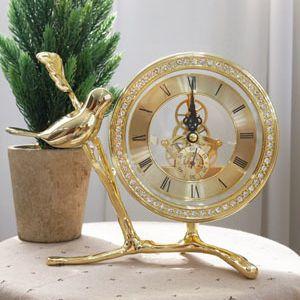 골드 나뭇가지 톱니 탁상시계 (소)