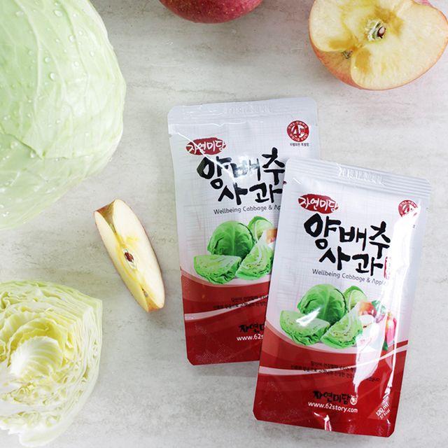 (선물 30팩) 몸에좋은 양배추 사과즙120ml,야채,채소,야채수,건강식품,건강즙,양배추,양배추즙,양배추사과즙,양배추사과