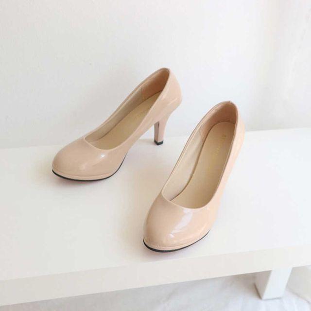오피스룩 코디 패션화 에나멜 킬힐 기본 구두 스타일
