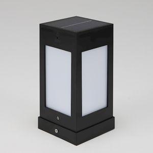 태양광 LED 문주등 흑색 80x80 XH-A028